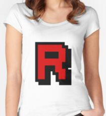 Team Pixellated R Women's Fitted Scoop T-Shirt