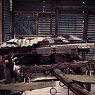 Old Wool Shed, Menindee by Normf
