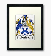 Crockett Coat of Arms / Crockett Family Crest Framed Print