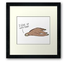 The Sloth Who Wouldn't Framed Print