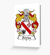 Berrios Coat of Arms/Family Crest Greeting Card