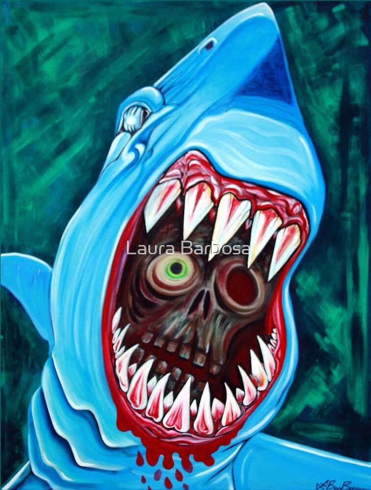 """""""Großer weißer Gobstopper"""" - Shark VS Zombie von Laura Barbosa"""