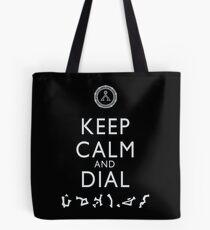 Keep Calm and Dial Earth Tote Bag
