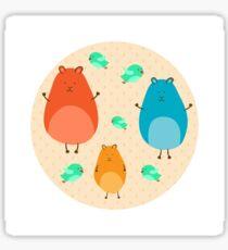 Cartoon funny hamsters Sticker