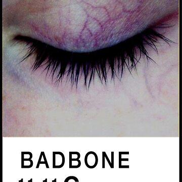 Bad Bone (Pantone) Closed Eyelid 11:11 by bexsimone