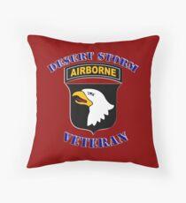 101st Airborne Desert Storm Veteran - iPad Case Throw Pillow