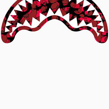 Iconic Shark Chomper Red Camo by jjaysonn