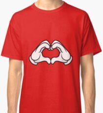 Mickey Hands Heart Love Classic T-Shirt