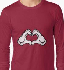 Mickey Hands Heart Love Long Sleeve T-Shirt