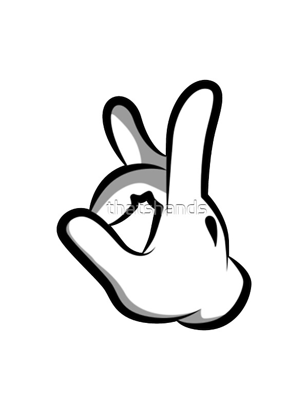 quotmickey hands finger upquot stickers by thatshands redbubble