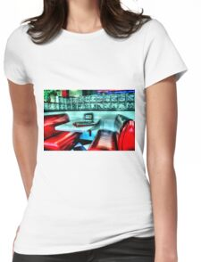 Route 66 Diner Womens Fitted T-Shirt