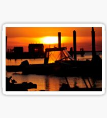 Sunset on Delaware Bay Sticker