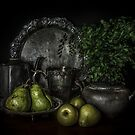 Pears and Pewter by Julie Begg