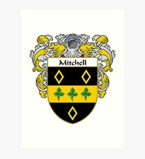 Mitchell Coat of Arms/Family Crest Art Print