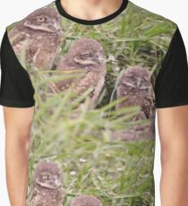 Trio of Baby Burrowing Owls, As Is Graphic T-Shirt