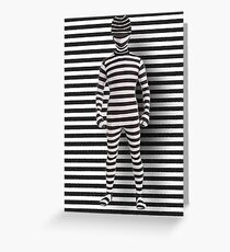 A VISION IN STRIPES PICTURE/CARD Greeting Card