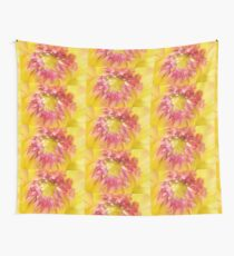 Pink and Yellow Dahlia, As Is Wall Tapestry