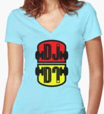 Cool DJ Women's Fitted V-Neck T-Shirt