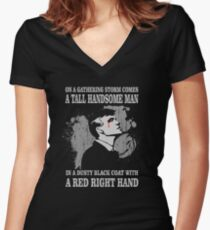 A Tall Handsome Man.. Women's Fitted V-Neck T-Shirt