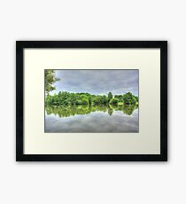 Cloudy Reflection HDR Framed Print