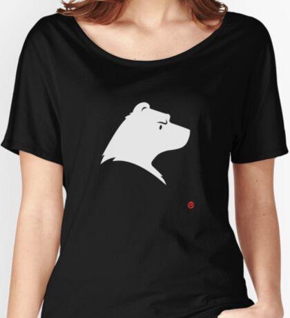 Polar Bear Silhouette Portrait Relaxed Fit T-Shirt