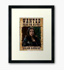 Buffy Faith Wanted Eliza Dushku Framed Print