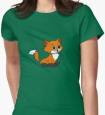 Happy Baby Fox Womens Fitted T-Shirt