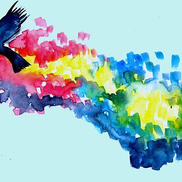 Bird in flight by mira-luan-art
