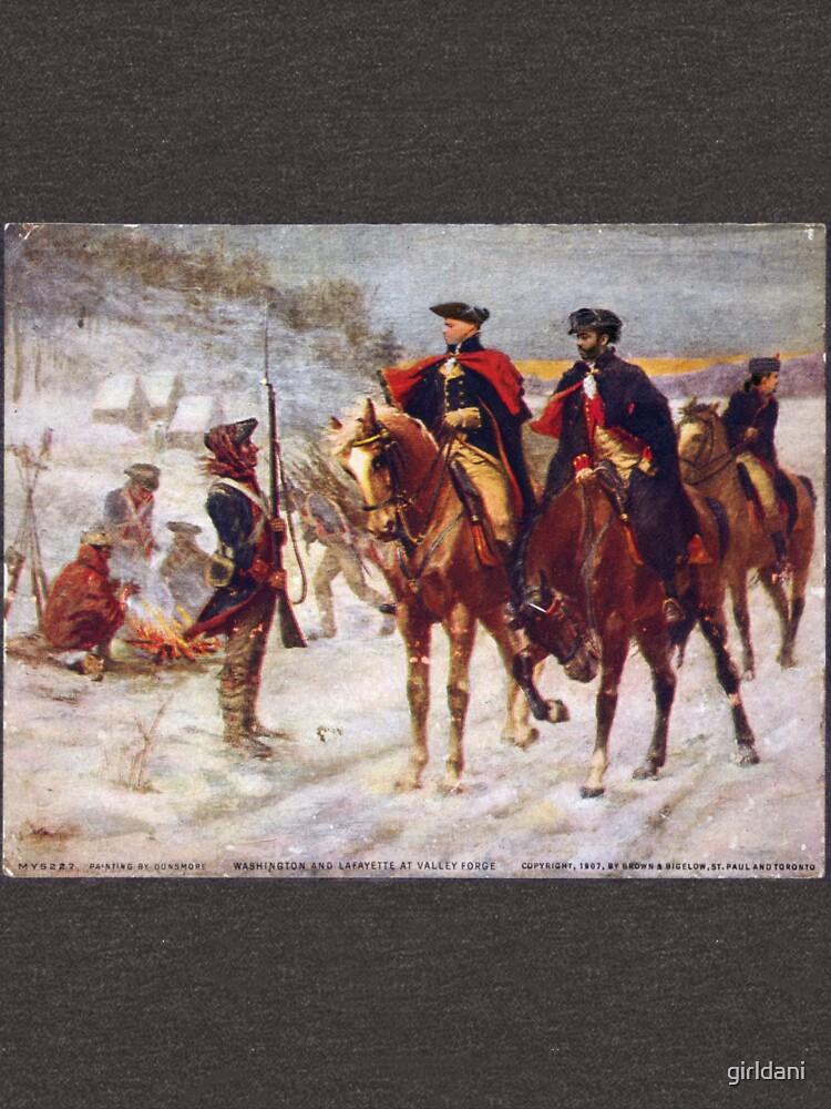 Washington y Lafayette en Valley Forge de girldani