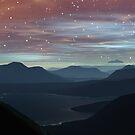 Blue Sun Red Sky by Hugh Fathers