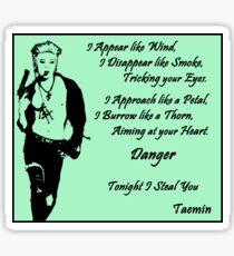 TAEMIN - DANGER Sticker