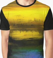Abstract Yellow Blue #1 Graphic T-Shirt