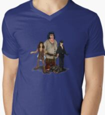 Fezzick,Inigo and Wesley Mens V-Neck T-Shirt