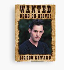 Buffy Xander Wanted Canvas Print