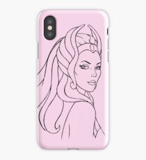 She-Ra Princess of Power (Black Line Art) iPhone Case/Skin