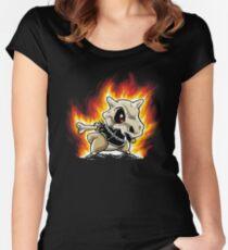 Cubone on fire Women's Fitted Scoop T-Shirt