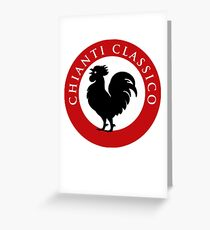 Black Rooster Chianti Classico Greeting Card