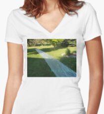 Slide Paradise Women's Fitted V-Neck T-Shirt