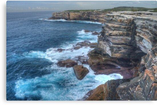 Rugged Australian Coastline At Cape Solander by Michael Matthews