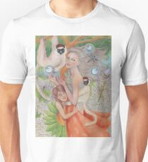Mother Universe with Daughter Earth and the Lemurs Unisex T-Shirt