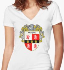 Murphy Coat of Arms/Family Crest Women's Fitted V-Neck T-Shirt