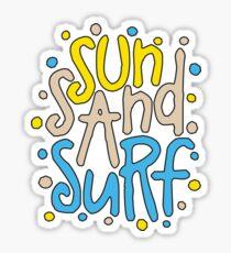 Sun Sand Surf Sticker