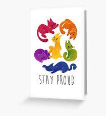 LGBT + PRIDE CATS Greeting Card