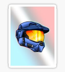 Stylised Spartan Blue Sticker