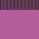Trendy Radiant Orchid Chic Black Stripes by Beverly Claire Kaiya
