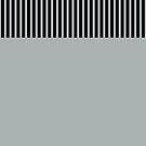 Trendy Paloma Grey Black Stripes by Beverly Claire Kaiya