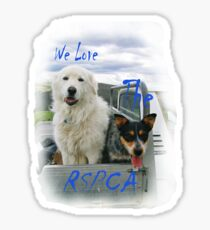 We Love the RSPCA. 'T' Shirt. All profits to the RSPCA. Sticker