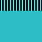 Trendy Turquoise Teal Chic Black Stripes by Beverly Claire Kaiya