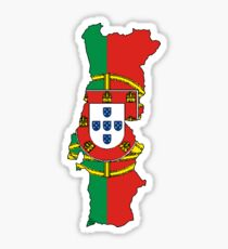 Portugal Map With Portuguese Flag Sticker