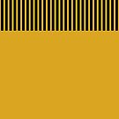 Trendy Yellow Chic Black Stripes Circle Monogram by Beverly Claire Kaiya